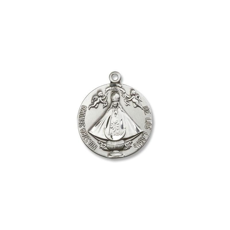 Sterling silver senora de los lagos pendant a m religious gifts sterling silver senora de los lagos pendant mozeypictures Images