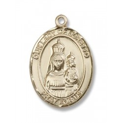 Gold Filled O/L of Loretto Pendant