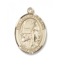 Gold Filled O/L of Lourdes Pendant