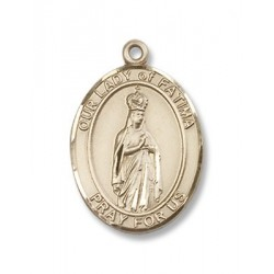 Gold Filled O/L of Fatima Pendant
