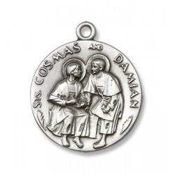 Sts. Cosmos & Damian Sterling SilverPendant