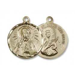 Gold Filled Scapular Pendant