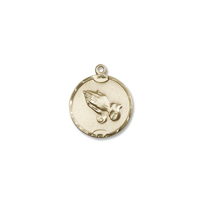 Gold filled praying hands pendant a m religious gifts church supply gold filled praying hands pendant mozeypictures Gallery