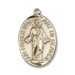 Gold Filled Our Father Pendant