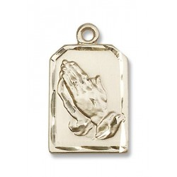 Gold Filled Praying Hands Pendant