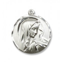 Sterling Silver Sorrowful Mother Pendant