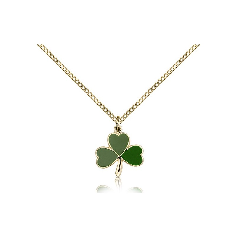 Gold filled shamrock pendant a m religious gifts church supply gold filled shamrock pendant gold filled shamrock pendant aloadofball Images
