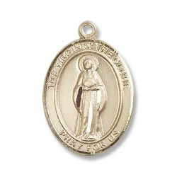 Gold Filled Virgin of the Globe Pendant