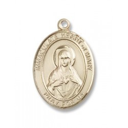 Gold Filled Immaculate Heart of Mary Pendant