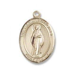 14K Gold Virgin of the Globe Medal