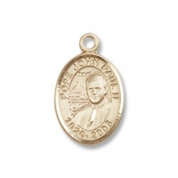 Gold Filled Pope John Paul II Pendant