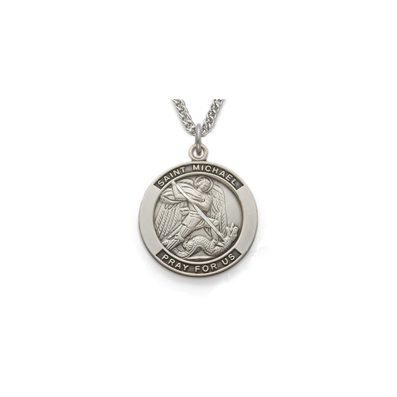 St Michael Necklace Sterling Silver