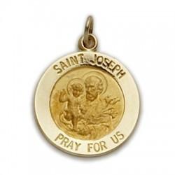 St. Joseph 14K Gold Round Medal