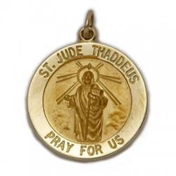St. Jude 14K Gold Round Medal