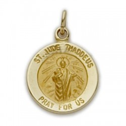 St. Jude 14K Gold Round Medal Patron