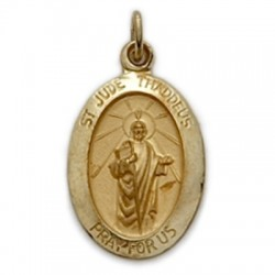 St. Jude 14K Gold Oval Medal