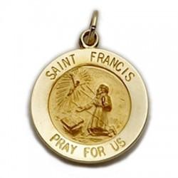 St. Francis 14K Gold Medal
