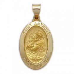St. Anthony 14K Gold Oval Medal