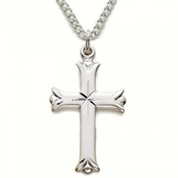 "Women's Cross Necklace Sterling Silver w/18"" Chain - Boxed"