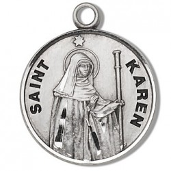 "St. Karen Sterling Silver Round 18"" Chain - Boxed"
