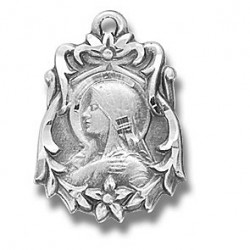 """Sterling Silver Madonna w/18"""" Chain - Boxed"""