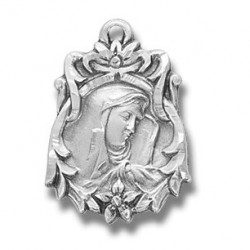 """Sterling Silver Sorrowful Mother w/18"""" Chain - Boxed"""
