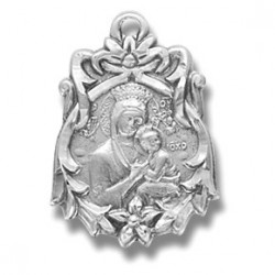 """Our Lady of Perpetual Help Stainless Steel w/18"""" Chain - Boxed"""