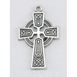 Sterling Silver Small Celtic Cross with 18 inch Chain Boxed