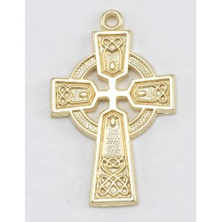 "Gold Over Sterling Silver Celtic Knot Cross w/18"" Chain - Boxed"