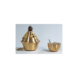 Combination High Polish/Satin Bronze Censer