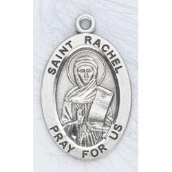 "St. Rachel Sterling Silver Oval w/18"" Chain - Boxed"