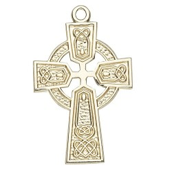 14K Celtic Cross w/14K Jump Ring - Boxed