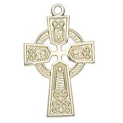 14K Celtic Cross w/14K Jump Ring - Boxed