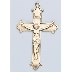 14K Large Flair Tipped Crucifix w/14K Jump Ring - Boxed