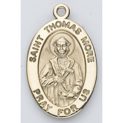 St. Thomas More 14K Oval w/14K Jump Ring - Boxed