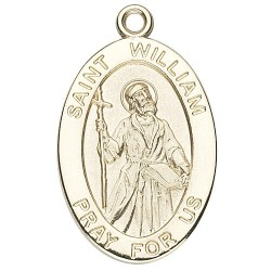 St. William 14K Oval w/14K Jump Ring - Boxed