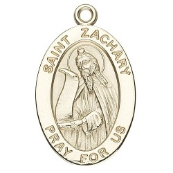 St. Zachary 14K Oval w/14K Jump Ring - Boxed