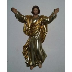 Risen Christ - Woodcarved 3/4 Relief with Gold & Silver Leaf