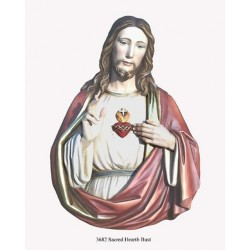Sacred Heart Bust - PolyArt