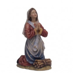 St. Bernadette Kneeling - Woodcarved