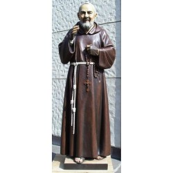 Padre Pio - Woodcarved