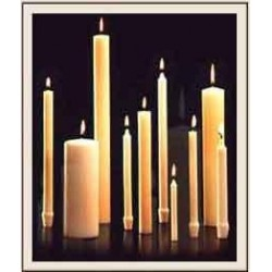 Altar Candles - Long Burning 51% Beeswax