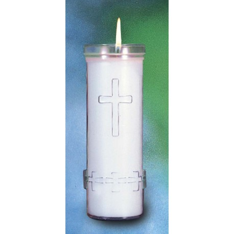 6 Day Candle Refill with Cross
