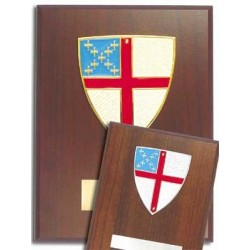 Episcopal Wall Plaque Gold Plated