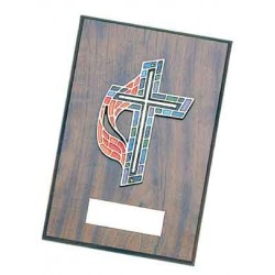 United Methodist Cross Plaque