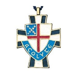 Episcopal Shield Acolyte Pendant