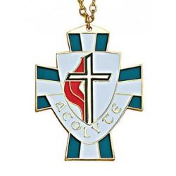 United Methodist Shield Acolyte Pendant