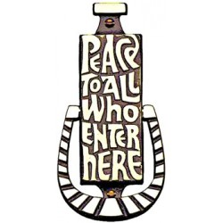 Peace To All Door Knocker