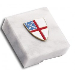 Episcopal Shield 2x2 Paperweight