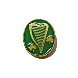 Irish Harp & Shamrock Lapel Pin